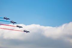 samolotów manoeuvres cywilni robią Obraz Royalty Free