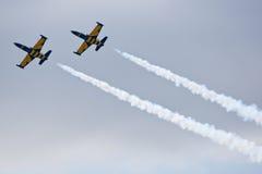 samolotów manoeuvres cywilni robią Obrazy Stock