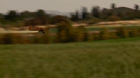 Samolot Żółty rolnictwo samolot, uprawy duster z dźwiękiem zbiory