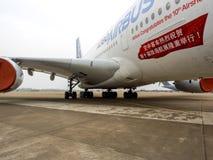 A380 samolot Zdjęcia Royalty Free