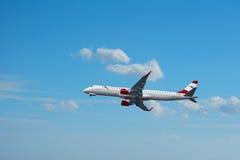Samolot Austrian Airlines Fotografia Stock