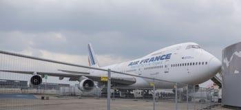 Samolot Boeing 747 w muzeum astronautyka i lotnictwo Obrazy Stock