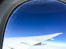 samolot być wizerunek usuwającego widok okno Obraz Stock