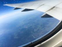 samolot być wizerunek usuwającego widok okno Fotografia Royalty Free