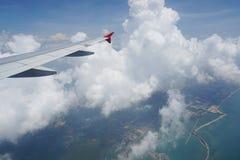 samolot być wizerunek usuwającego widok okno Obrazy Stock