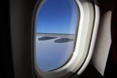 samolot być wizerunek usuwającego widok okno Obrazy Royalty Free
