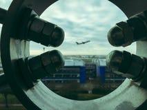 Samolot chwytający Zdjęcia Royalty Free
