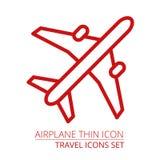 Samolot cienka ikona Royalty Ilustracja