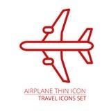 Samolot cienka ikona Ilustracji