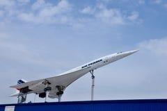 samolot Concorde naddźwiękowy zdjęcie royalty free