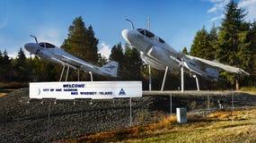 Samolot, Dębowy schronienie, Whidbey wyspa, Waszyngton obrazy royalty free
