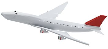Samolot 3d-illustration odizolowywający Fotografia Royalty Free