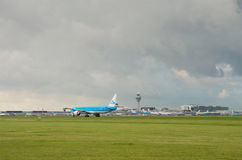 samolot daleko bierze Fotografia Stock