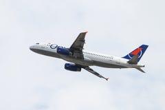 samolot daleko bierze Zdjęcia Stock