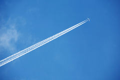 samolot do nieba Fotografia Royalty Free