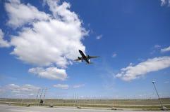 samolot do portów lotniczych Obrazy Stock