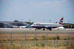Samolot firma British Airways Zdjęcia Royalty Free