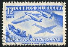 Samolot i Stagecoach zdjęcie royalty free
