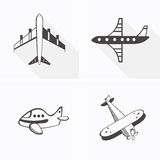 Samolot ikony Obrazy Royalty Free