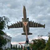 Samolot jest Su-25 Zdjęcie Stock