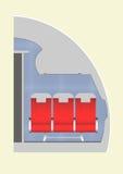 Samolot kabina royalty ilustracja