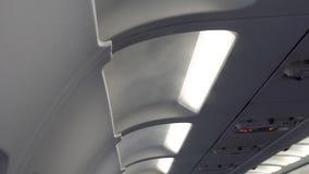 Samolot kabina Lotniczy uwarunkowywać obracam dalej w samolocie chłodzi kabinę zdjęcie wideo