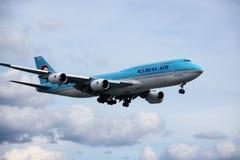 Samolot Korean Air obrazy stock