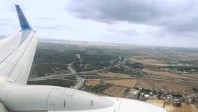Samolot ląduje w złych warunek pogodowy zbiory wideo