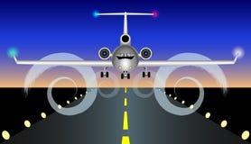 Samolot ląduje, wzrasta, ilustracja wektor
