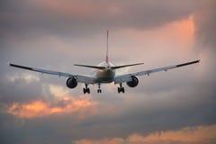 samolot lądowanie Zdjęcie Stock