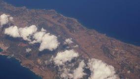 Samolot lata nad Cypr zbiory wideo