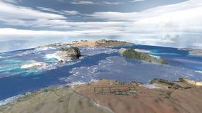 Samolot lata nad pustynnymi wyspami zbiory wideo