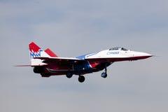 Samolot Mig-29, jerzyki Obraz Royalty Free