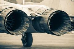 Samolot Mig-29 przy airshow Obrazy Stock