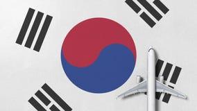 Samolot na fladze korea południowa Loty odnosić sie konceptualną 3D animację