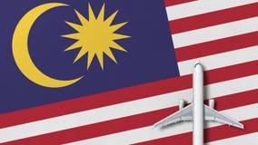 Samolot na fladze Malezja Loty odnosić sie konceptualną 3D animację