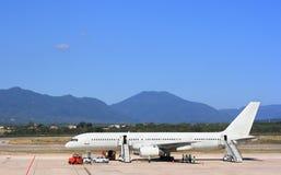 samolot na lotnisko Fotografia Stock