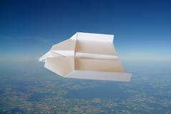 samolot na papierze Obrazy Royalty Free