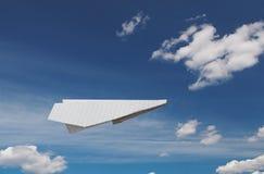 samolot na papierze Obrazy Stock