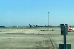 Samolot na start Obrazy Royalty Free
