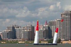 Samolot na trasie pucharu świata Red Bull powietrza rasa kazan Russia Zdjęcia Royalty Free