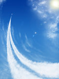 Samolot niebo Fotografia Stock