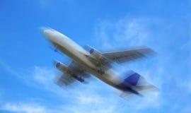 samolot niewyraźne zdjęcie stock