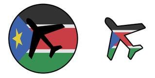 Samolot odizolowywający na bielu - Południowy Sudan Obrazy Royalty Free