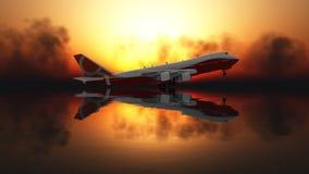 Samolot pasażerski Fotografia Royalty Free