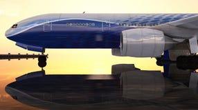 Samolot pasażerski Fotografia Stock