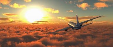 Samolot pasażerski Obrazy Royalty Free