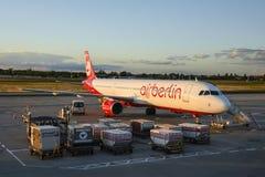 Samolot pasażerski Aerobus A321 Berlin Obraz Stock