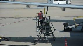 Samolot refueling w Atlanta, dziąsła zbiory wideo