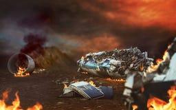 Samolot ruiny fotografia royalty free